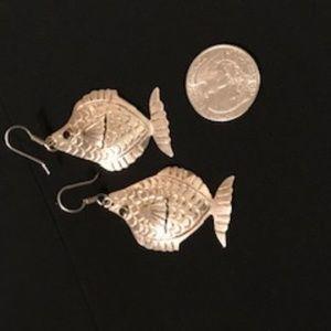Sterling Silver Fish Earrings